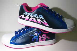 Megaman -custom shoes by Innom