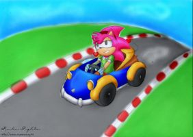 Amy in Sonic Drift by raikoufighter