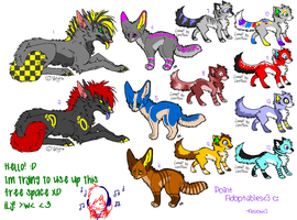 Point Adoptables: Wolveees :D by ArrowRules