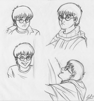 Harry Potter 11 years- study 1 by giulal