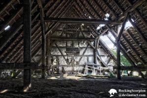 Lost Places: The Old Barn - Upstairs by RockingScorpion