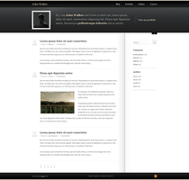 Classic Blog Template by F-l-a-g