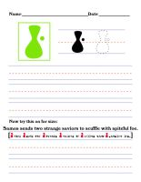 Precursor Worksheet - S by DrinkTeaOrDie