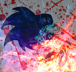 SXB Logo V2: Blood, Fire, and Lightning by Soul-the-Mysterious
