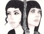 Ladytron - Mira and Helen by InkyDreamz