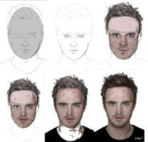 Jesse Pinkman Progression by TheRaRaRabbit