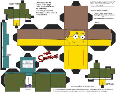 Simpsons3: Waylon Smithers Jr. Cubee by TheFlyingDachshund
