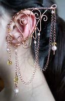 Swirling Currents Long Point Elven Ear Wrap by AlyssBlackhart