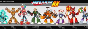 MEGAMAN BX ROBOT MASTERS by XAMOEL