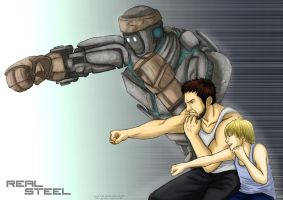 Real Steel - colored by kiku-maru