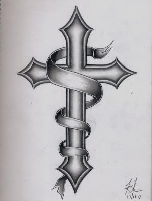 Corner Cross Tattoo Designs Picture 1