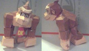 Donkey Kong Papercraft by ganon-destroyer