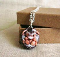 Hedgehog Necklace by FlowerLandBySaraMax