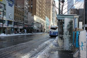 Transit after Snowstorm by TheBuggynater