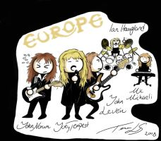 Europe the band 80's style by EmblemDefender