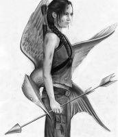 Jennifer Lawrence as Katniss by MShah123