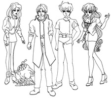 Memories: OC Babylon five, lineart by Shinodari