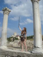 On the ruins of the Roman town by LindaNoul