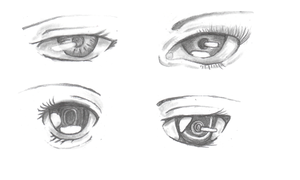 Anime Eyes Concept WIP by Flash-Gamers