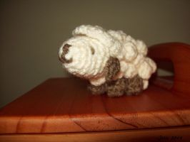 wooly...crocheted sheep by JosieMT