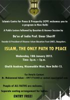 Islamic ad, Islamic is The Only Way to Peace by aashoo