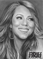 Mariah Carey smile 2 Drawing by riefra