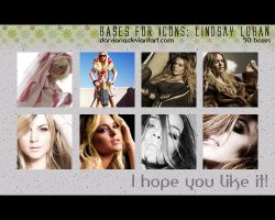 Bases for icons: Lindsay Lohan by darviana