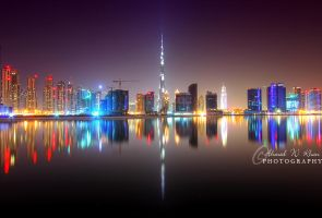 Dubai Skyline by ahmedwkhan