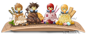Kingdom Hearts Ice Cream Combination by J4ne-d-C4t