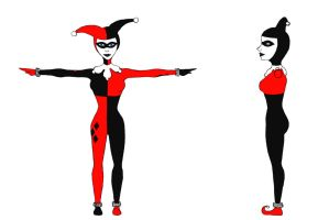 Harley Quinn T-Pose Reference by TwinkleCarnage
