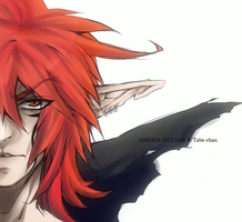 Asrhos Muller - portrait by Tabe-chan