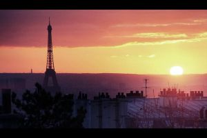 Paris sunset by Guilllaume