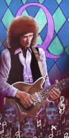 Brian May - Queen by JohnHLynch