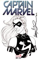 Captain Marvel sketch cover by mechangel2002