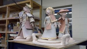 ceramics class - Queen, King and Sara Royall by ownerfate