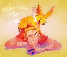 Scout N' Jolteon by Konnestra