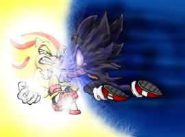 D. S. Sonic VS S. Shadow by Frankyding90