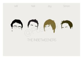 The Inbetweeners Minimal Poster Art by Posteritty by Posteritty