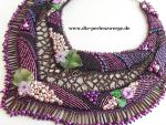 Wild Berry - Necklace, Collier with many Pearls by Muriel-Leland