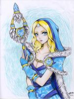 Crystal Maiden DOTA 2 fan art by Kei---chan
