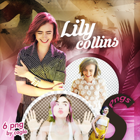 Lily Collins Png Pack by Katycatcgl