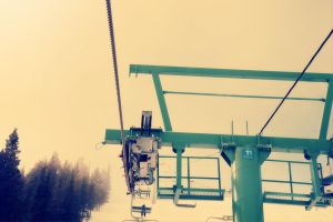 Chairlift and Fog by Veox1