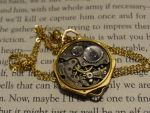 Steampunk vintage necklace by Hiddendemon-666