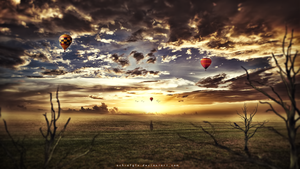Travelling away #photomanipulation by Achrafgfx