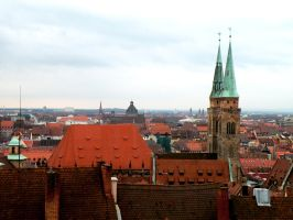St. Sebald Church and Nuernberg Rooftops by WillFactorMedia
