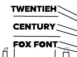 20th Century Fox Font 8D by LogoFanful