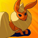 Flareon about to take a nap by Metalady7