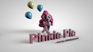 3D My Little Pony FIM Pinkie Pie Wallpaper by jayjaybirdsnest