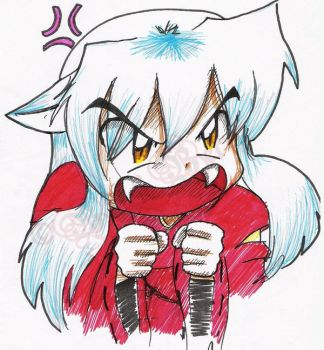 Angry Inuyasha by roselette