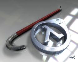 Half-Life 2 Crowbar and Lambda by SgtHK